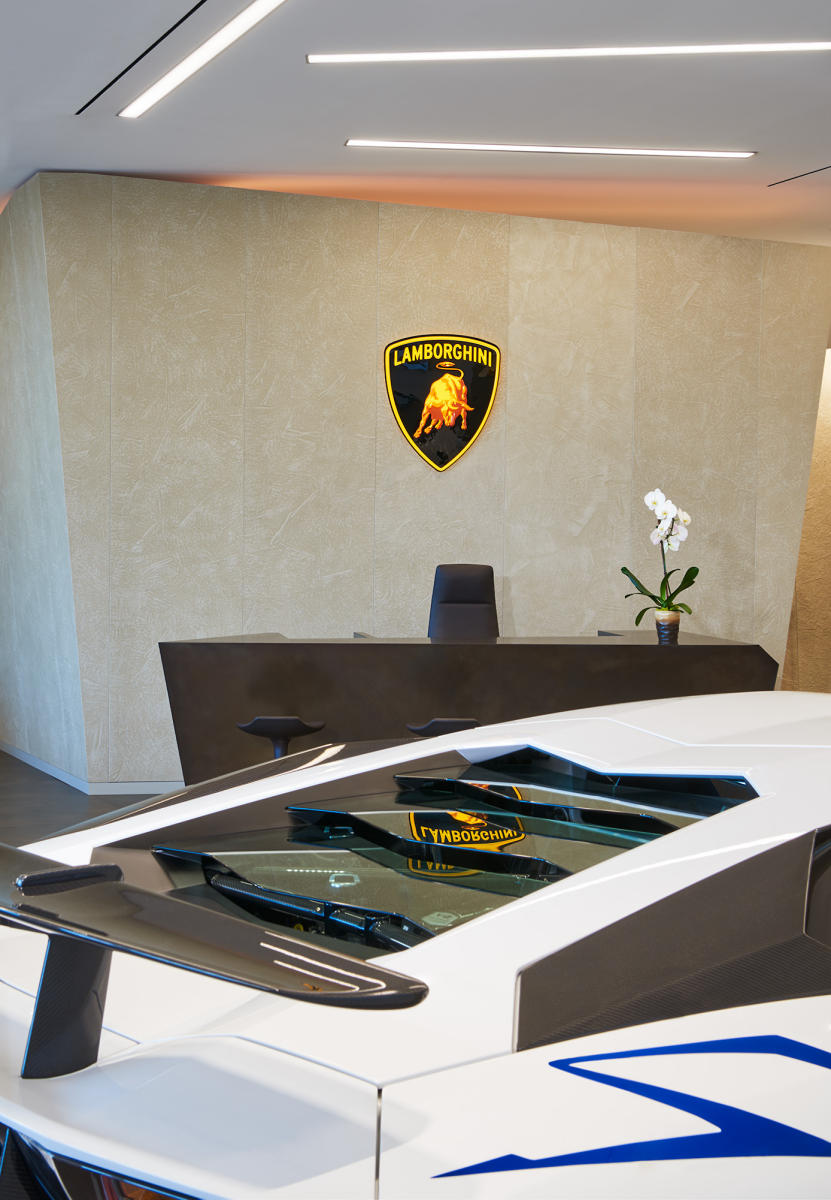 Architect: VA-Spaces   |   Project: Lamborghini Showroom