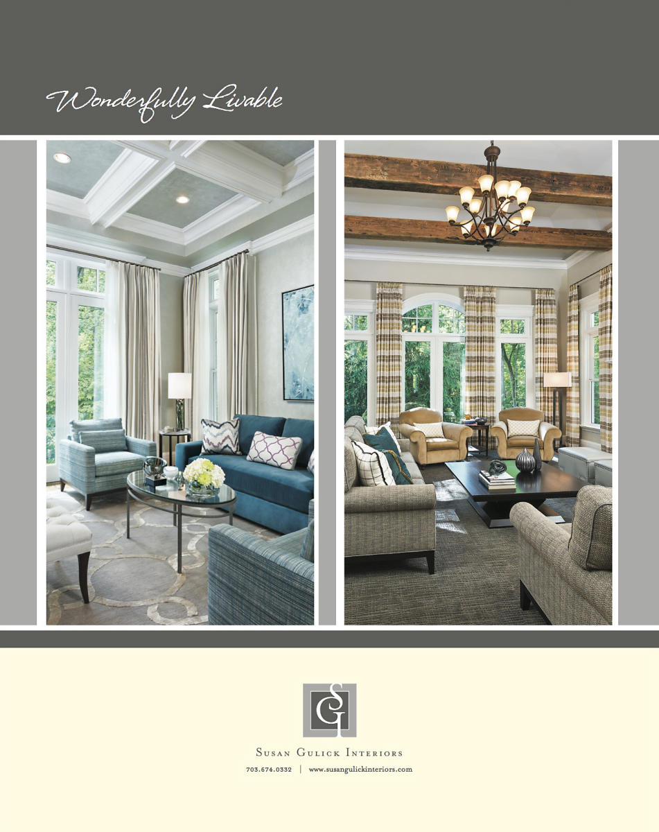 Susan Gulick Interiors Home & Design Ad